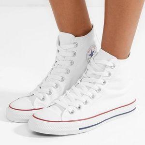 White Converse high tops - Women's